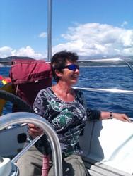 segeln  auf Galateia an der Adria